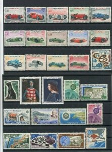 D123654 Monaco MNH Year 1967 28 values Sc. 648-675