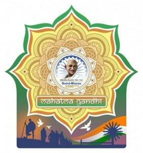 Guinea-Bissau - 2021 Leader Mahatma Gandhi - Stamp Souvenir Sheet - GB210218b