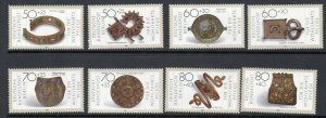 Germany B658-B661 and 9NB249-252 Masterpieces in Gold and Silver