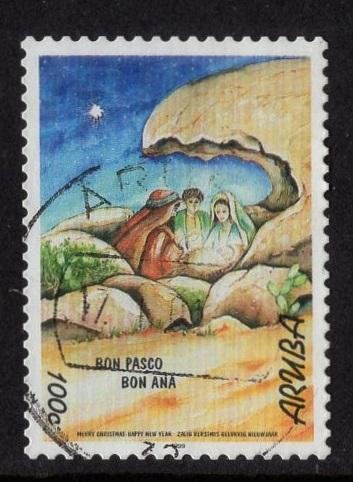 Aruba   #184  used  1999  Christmas  100c