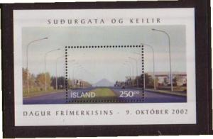 Iceland Sc 977 2002 Stamp Day stamp sheet mint NH