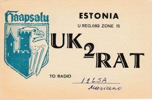 8726 Amateur Radio QSL Card  ESTONIA