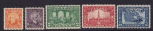 Canada Scott # 141 - 145  VF-XF OG never hinged nice color cv $ 78 ! see pic !