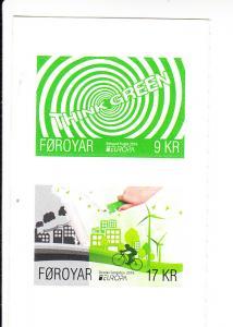 2016 Faroe Island Think Green - SA Europa (2) (Scott 666-67a) MNH