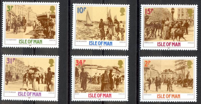 Isle of Man Sc# 321-326 MNH 1987 Photos by John Miller Nicholson