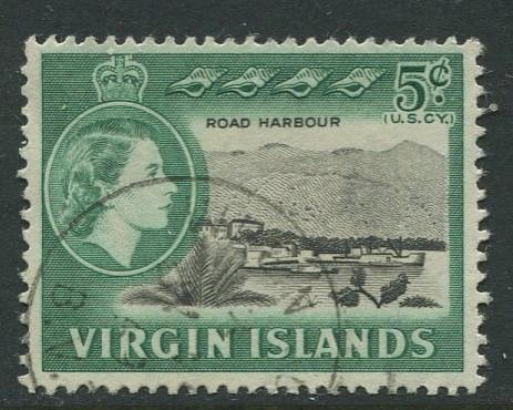 Virgin Is.- Scott 148 - QEII Definitive -1964 - VFU - Single 5c Stamp