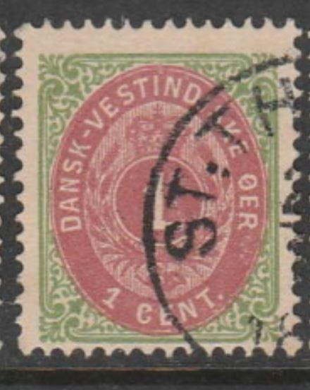 U.S. Scott #5e Danish West Indies - Possession Stamp - Used Single