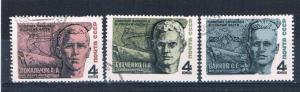Russia 3430-32 Used set Lt Baikov 1968 (R0512)