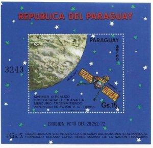 1974   PARAGUAY  -  MARINER 10 - MERCURY   -  MNH