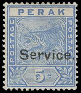 Malaya / Perak Scott O10 Gibbons O10 Mint Stamp