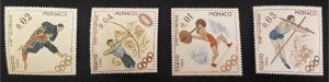Sports, Olympic Games, 1964, Europe, Monaco, №97-T