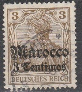 Germany Off In Morocco  #33  F-VF Used  (S4272)