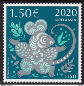 Estonia - 2020 - Chinese New Year of the Rat - mint stamp