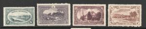 Turkey - Sc# 595 - 598 / ISFILA# 938 - 941 MH (pencil on bk)  /  Lot 0519068