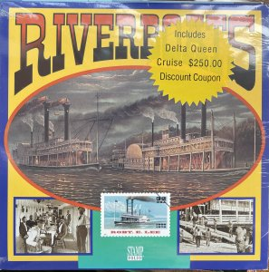 US Stamp Folio 1996 Riverboats 3091-35 set of 4 Descriptive booklet
