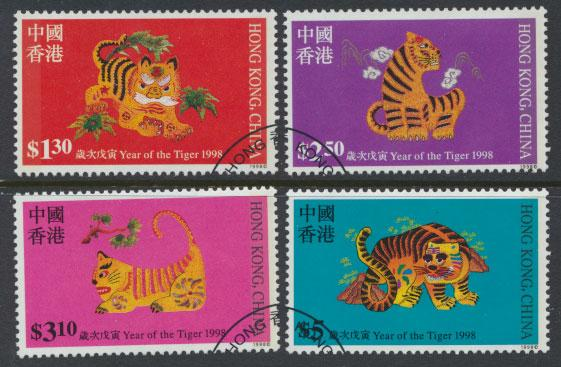 Hong Kong SG 915 - 918 set of 4 Year of Tiger  Used  FD cancel