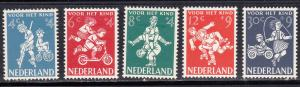Netherlands # B326-330, Childrens Games, Hinged, 1/3 Cat.