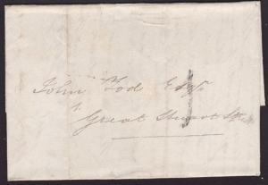 GB SCOTLAND 1830 entire Edinburgh 1d Post : GRASSMARKET namestamp...........7218
