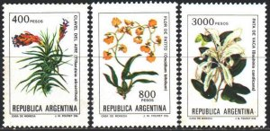 Argentina. 1982. 1605u-7u from the series. Argentina Flowers. MNH.
