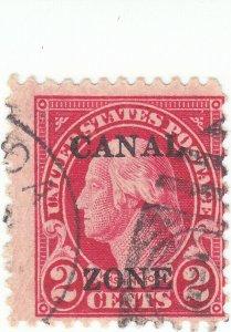 Canal Zone, Scott #84 - 2c Carmine, perf 11 - Used - SCV $8.00