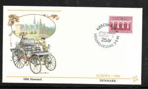 Just Fun Cover Denmark #755 Europa  FDC Fleetwood Cachet (my3050)