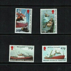 British Antarctic Territory: 2000 Launch Ernest Shackleton, supply ship  MNH set