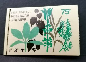 NEW ZEALAND,1974, Stamp Booklet SB28 no wmk.   E104