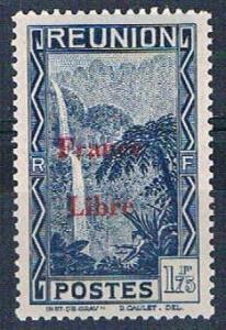 Reunion 213 MNH Cascade of Salazie overprint 1943 (R0455)