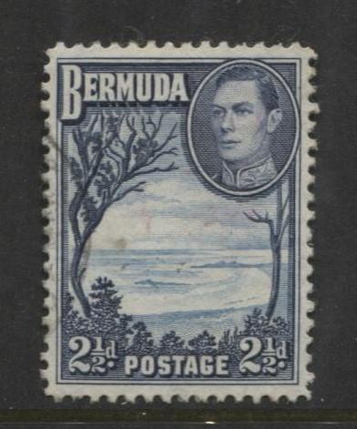 Bermuda - Scott 120 - Grape Bay - 1938 - VFU -  Single - 2.1/2d Stamp