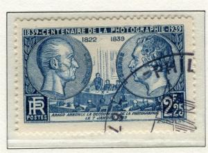 FRANCE; 1939 early Photographic Cent. issue fine used value