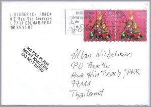 LUXEMBOURG 2019 - Caritas Christmas Semi-Postal - 80c+10c pair on cvr - B526