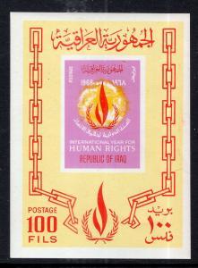 Iraq 484a Human Rights Souvenir Sheet MNH VF