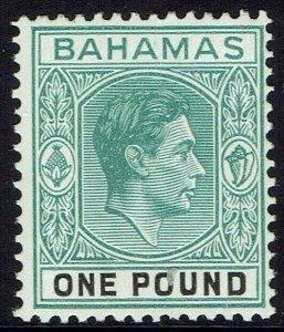 BAHAMAS 1938 KGVI 1 POUND MNH **