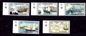Guernsey 269-73 MNH 1983 Ships