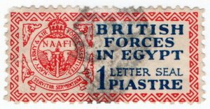 (I.B) Egypt Postal : British Forces Seal 1pi