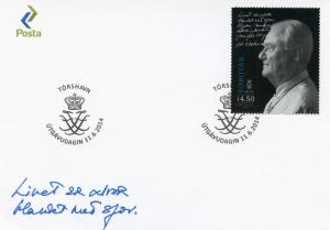 Faroe Islands 2014 FDC Henrik Prince Consort Denmark 80th Birthday 1v Set Cover