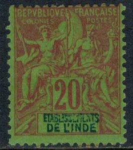 French India #9*  CV $8.00