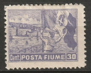 Fiume 1919 Sc 48 MH* some disturbed gum
