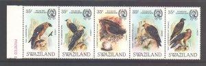 Swaziland Scott 427 - SG425/429, 1983 Wildlife Conservation Set MNH**