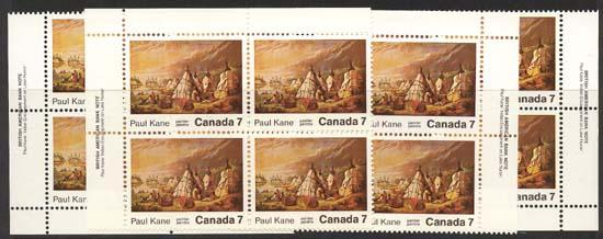 Canada - 1971 7c Paul Kane Indian Encampment Blks w. Variety