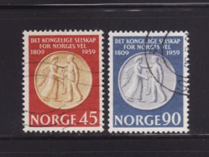 Norway 376-377 Set U Agricultural Society Medal (A)