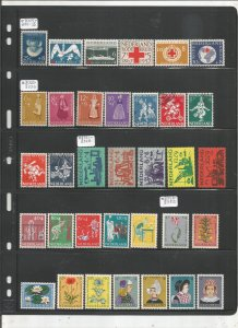 NETHERLANDS COLLECTION ON STOCK SHEET, MINT/USED