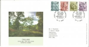 England - Royal Mail FDC Definitive Stamps 2001 1st & 2nd class, E & 65p Z9338