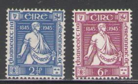 Ireland Sc 131-2 1945 Sower stamps mint