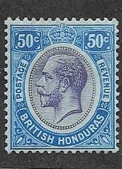 British Honduras #100   50c George V (M)  CV $8.00