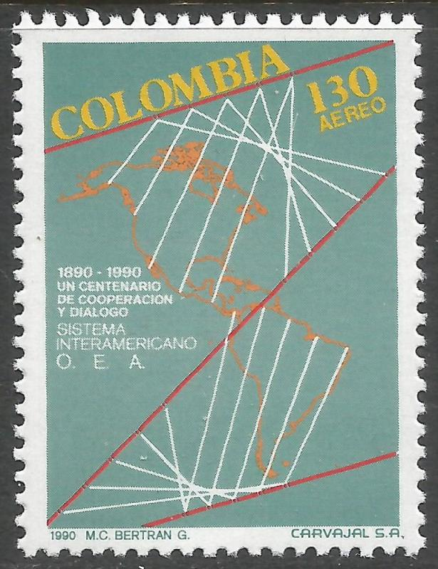 COLOMBIA C832 MNH MAP T224
