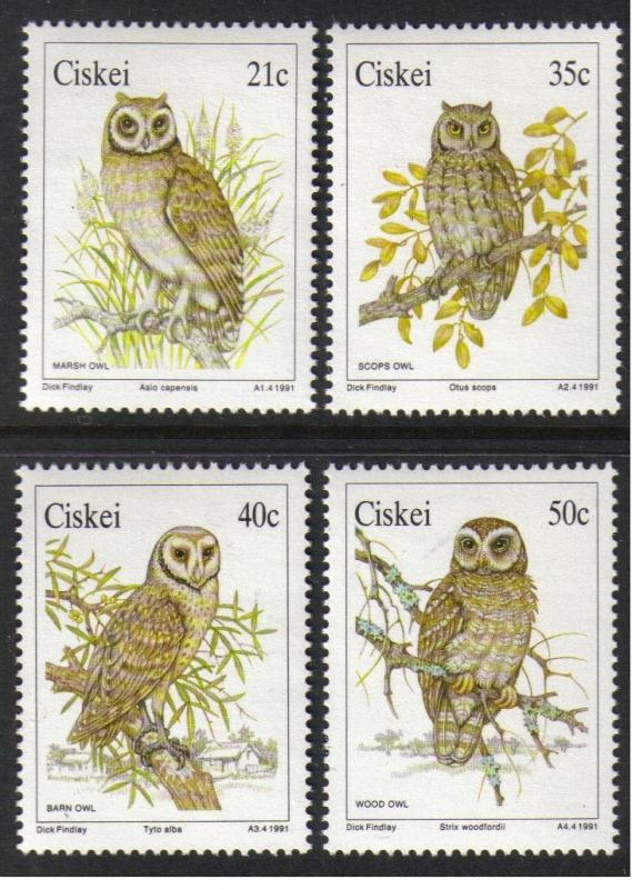 Ciskei #163-6  mint set; owls