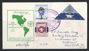 Jamaica, Scott cat. 233-235. Scout Conference. Registered First day cover. ^