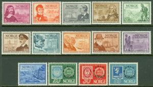 EDW1949SELL : NORWAY 1947-55 Scott #279-89, 340-42 Both Cplt sets VFMNH Cat $107