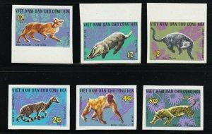North Viet Nam - 1967 -  Sc 455 - 460 - Wild Animals - Imperforation - MNH